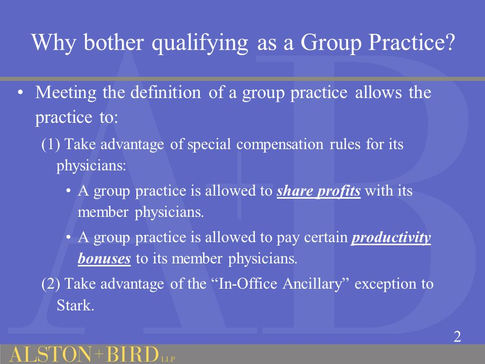 Why bother qualifying as a Group Practice