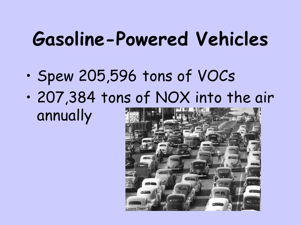 Gasoline-Powered Vehicles
