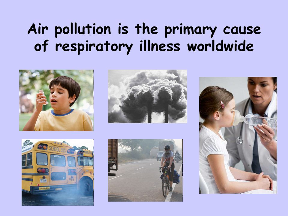 Air pollution is the primary cause of respiratory illness worldwide