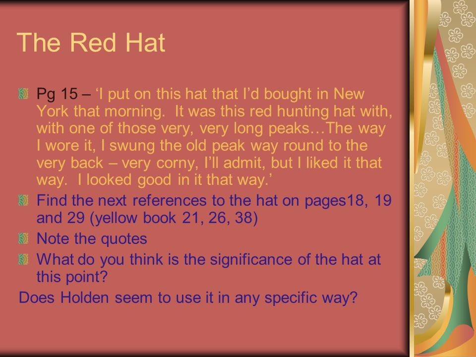 Catcher In The Rye Symbols Ppt Video Online Download