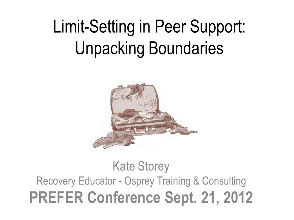 Limit-Setting in Peer Support: Unpacking Boundaries