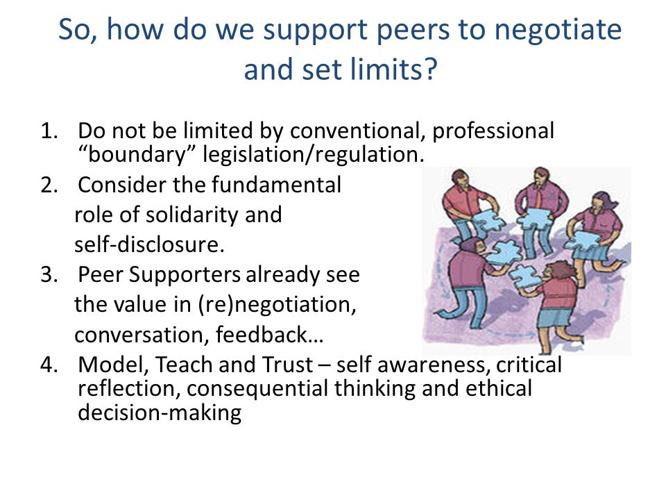 So, how do we support peers to negotiate and set limits