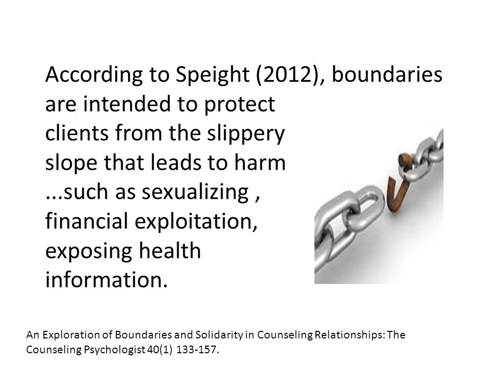 According to Speight (2012), boundaries are intended to protect