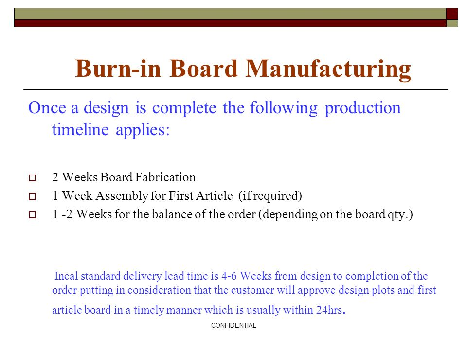 Burn-in Board Manufacturing