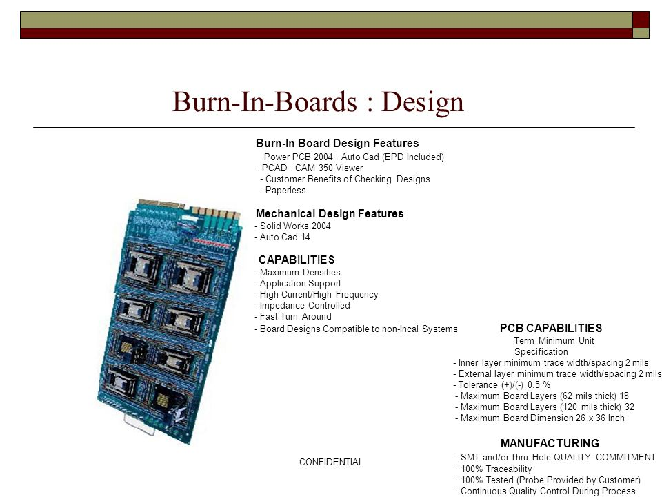 Burn-In-Boards : Design