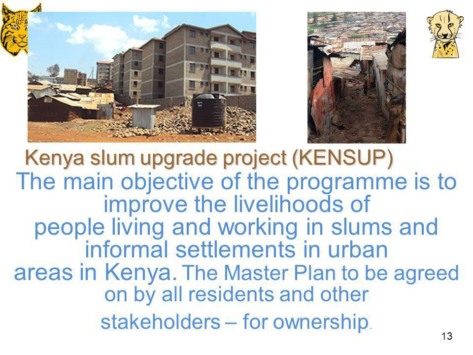 Kenya slum upgrade project (KENSUP)