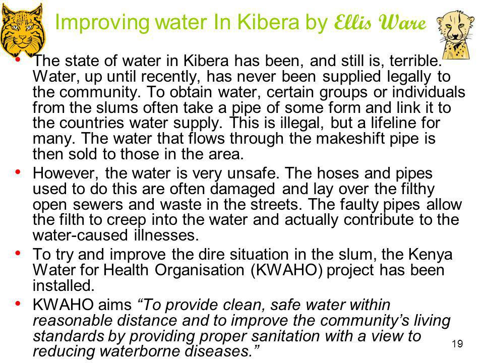 Improving water In Kibera by Ellis Ware
