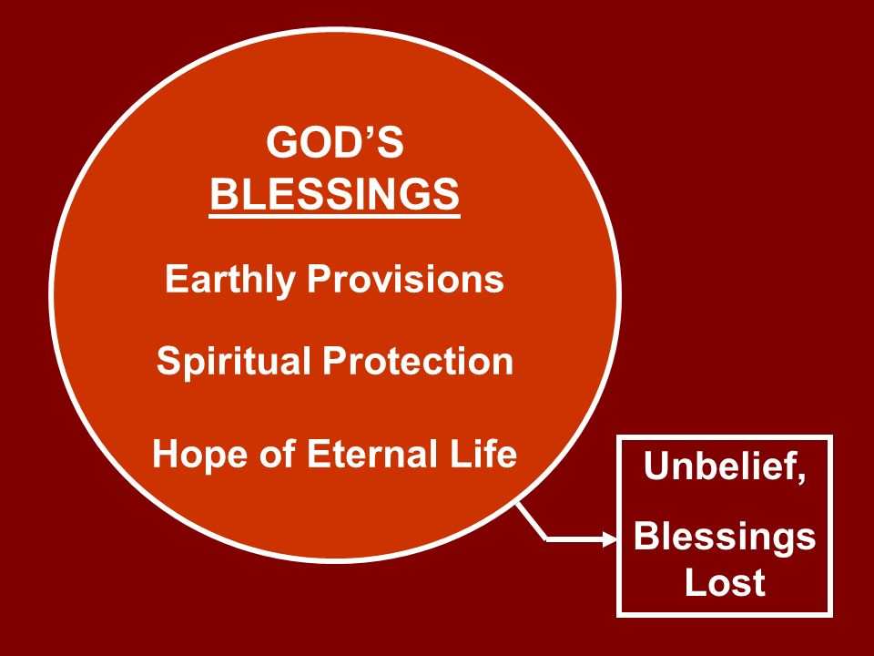GOD'S BLESSINGS Earthly Provisions Spiritual Protection