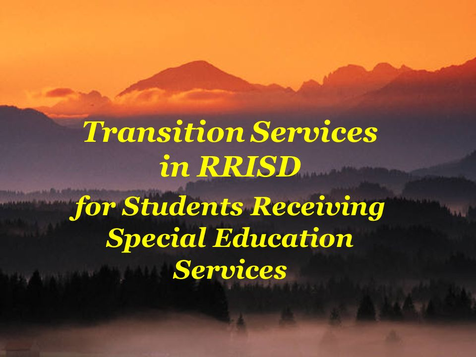 Transition Services in RRISD