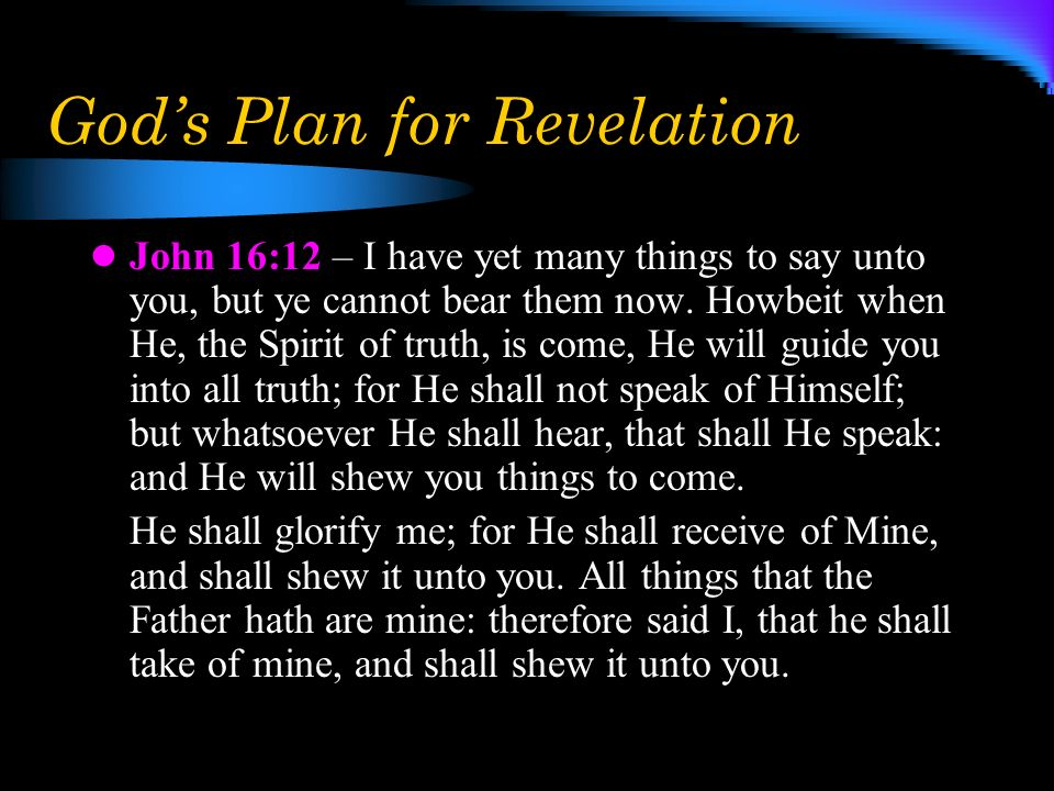 God's Plan for Revelation