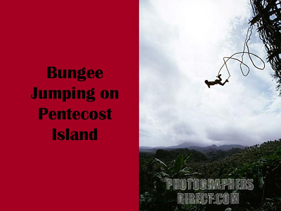 Bungee Jumping on Pentecost Island