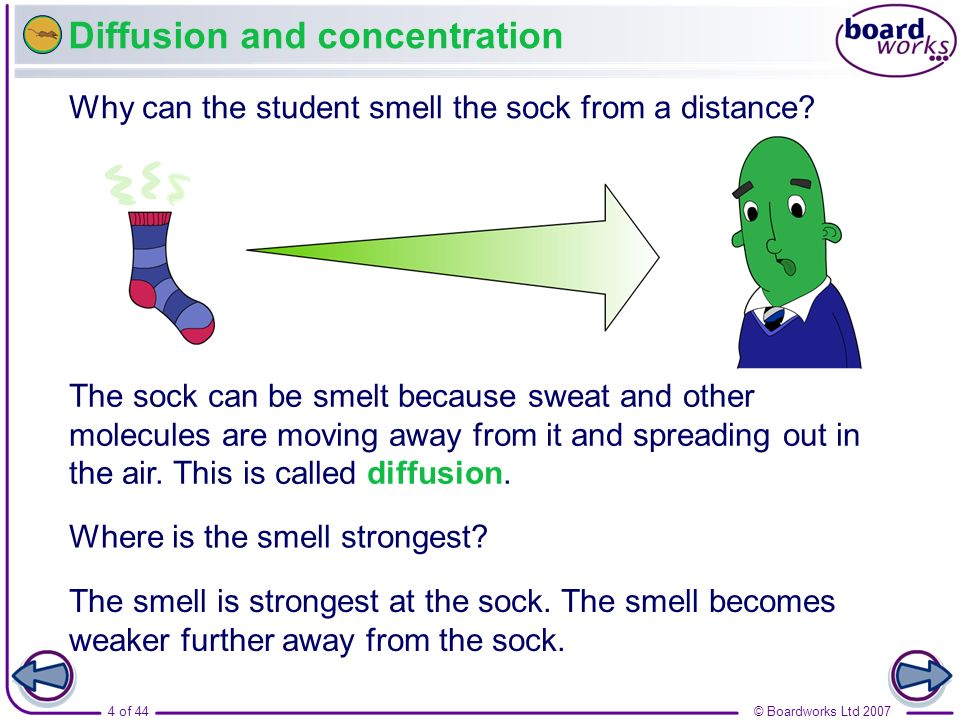 Diffusion and concentration