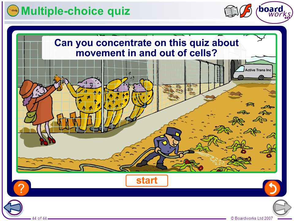 Multiple-choice quiz Boardworks GCSE Additional Science: Biology