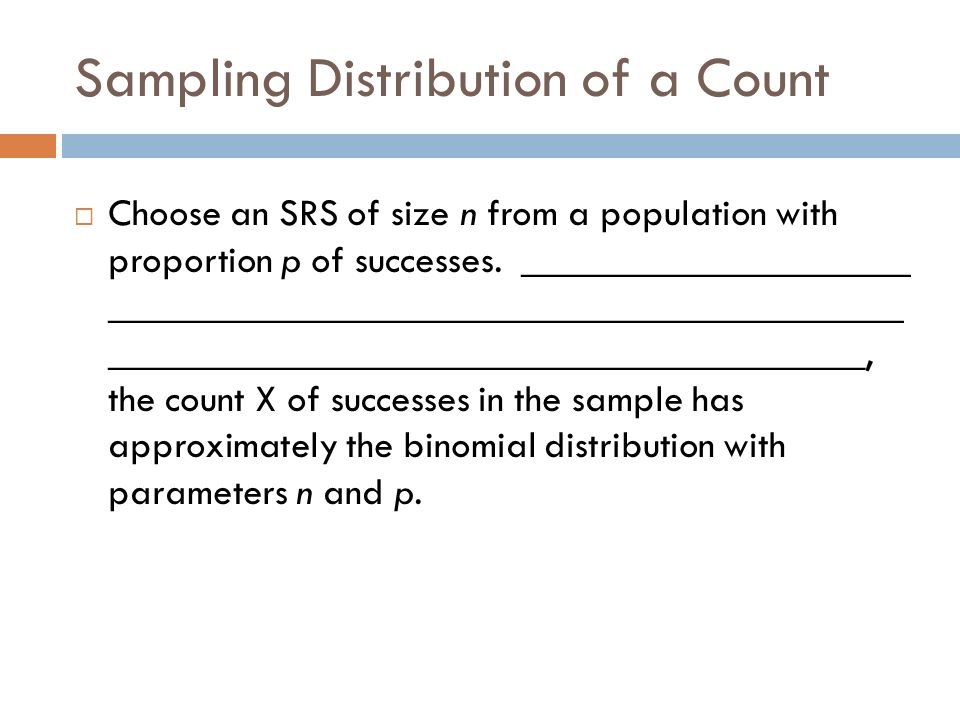 Sampling Distribution of a Count