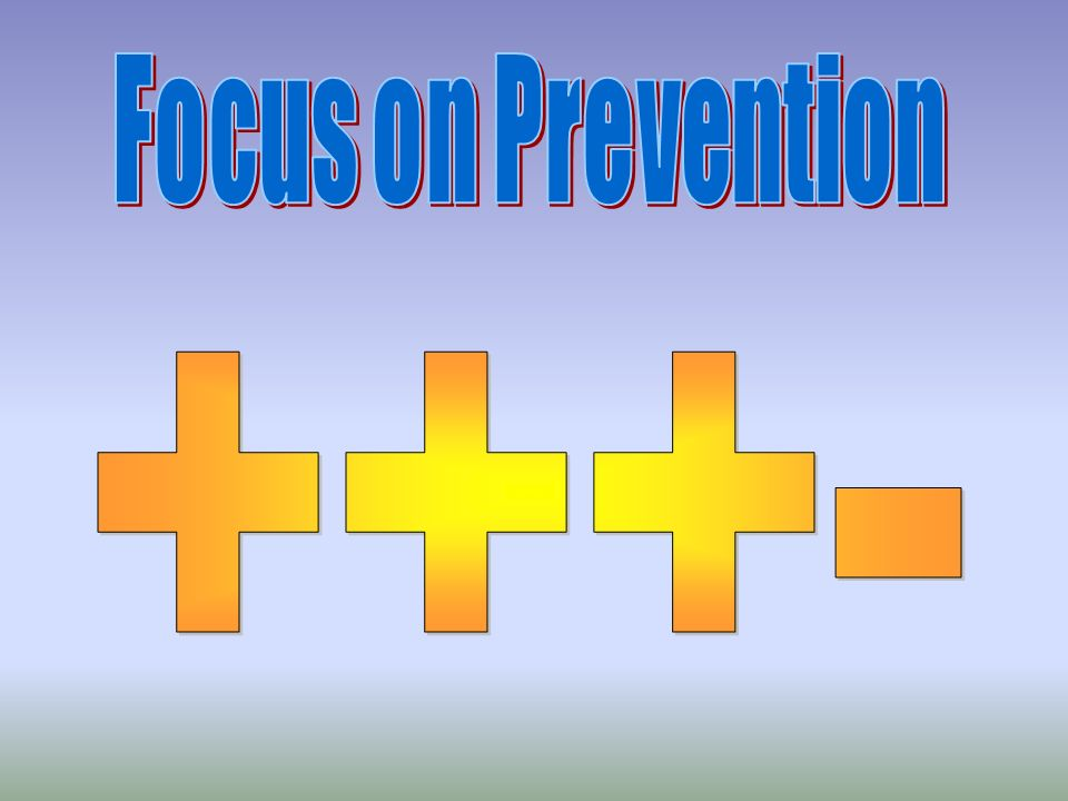 Focus on Prevention +++-