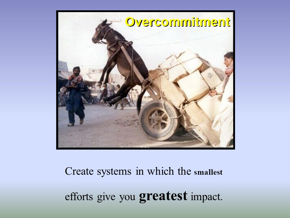 Create systems in which the smallest efforts give you greatest impact.