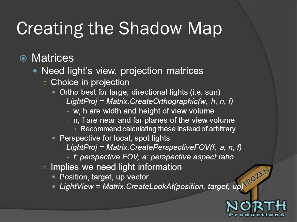 Creating the Shadow Map