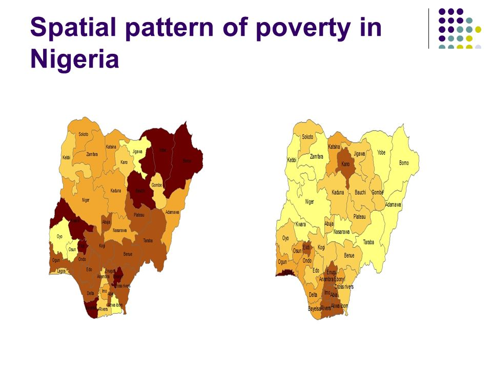 Spatial pattern of poverty in Nigeria