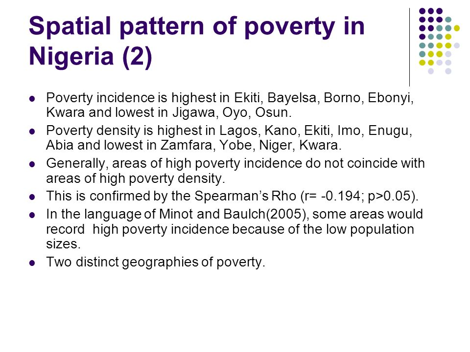 Spatial pattern of poverty in Nigeria (2)