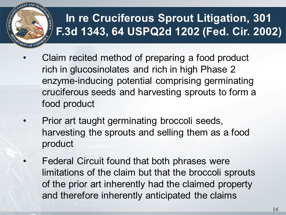 In re Cruciferous Sprout Litigation, 301 F