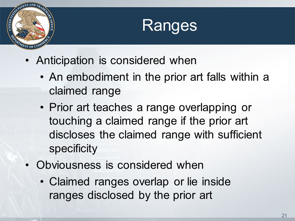 Ranges Anticipation is considered when