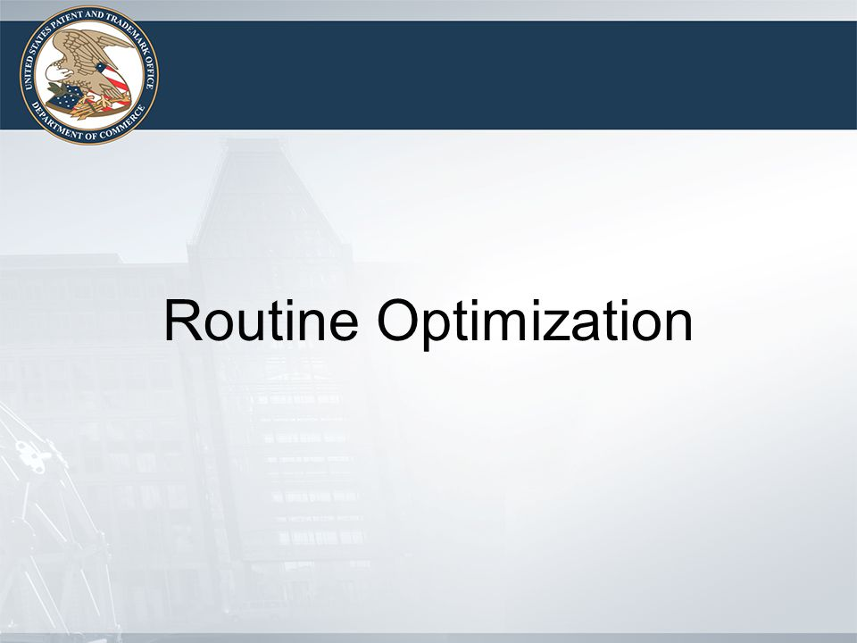 Routine Optimization