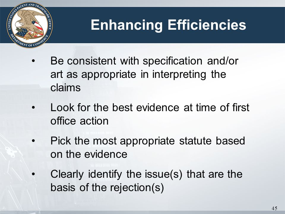 Enhancing Efficiencies