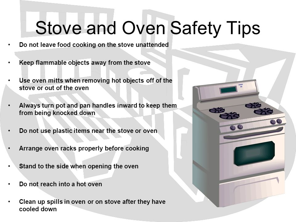 Stove and Oven Safety Tips