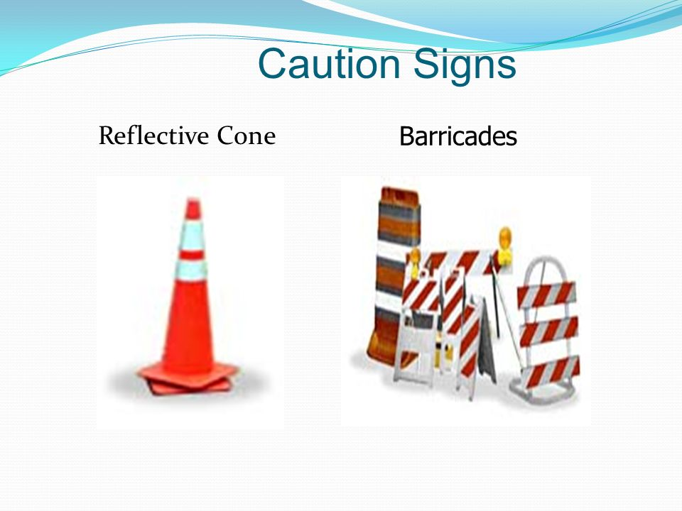 Caution Signs Reflective Cone Barricades