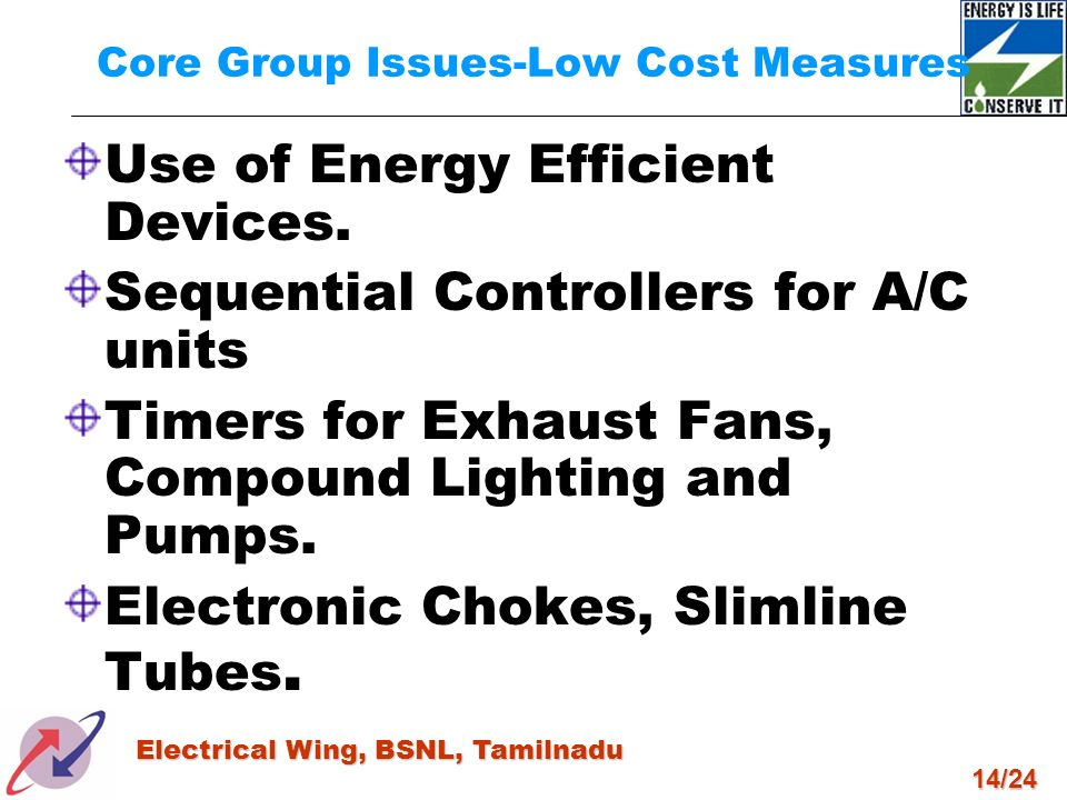 Core Group Issues-Low Cost Measures