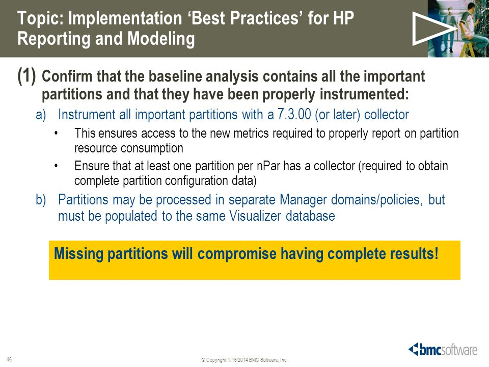 Topic: Implementation 'Best Practices' for HP Reporting and Modeling