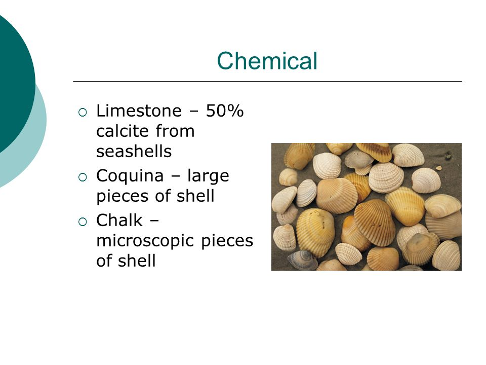 Chemical Limestone – 50% calcite from seashells