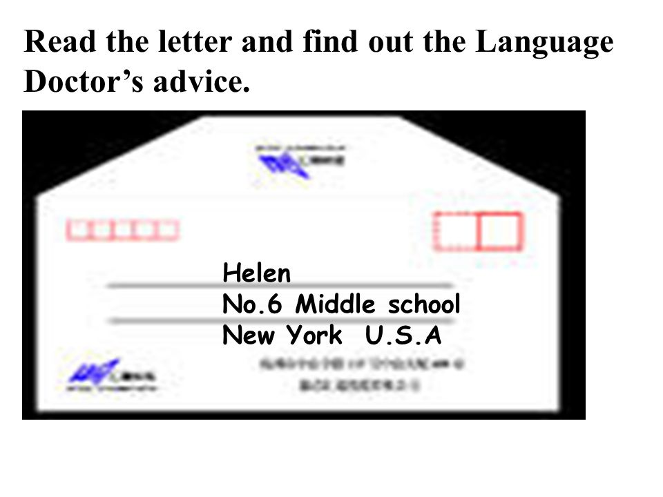 Read the letter and find out the Language Doctor's advice.