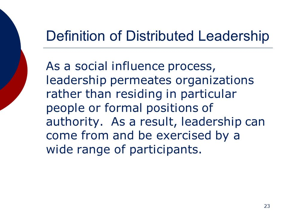Definition of Distributed Leadership