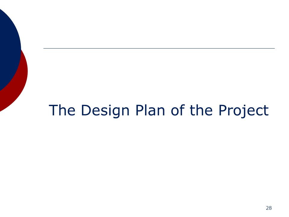 The Design Plan of the Project