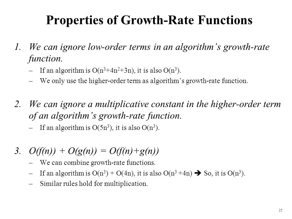 Properties of Growth-Rate Functions