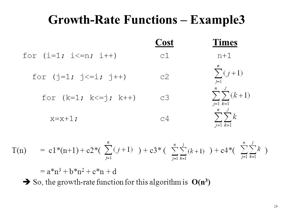 Growth-Rate Functions – Example3