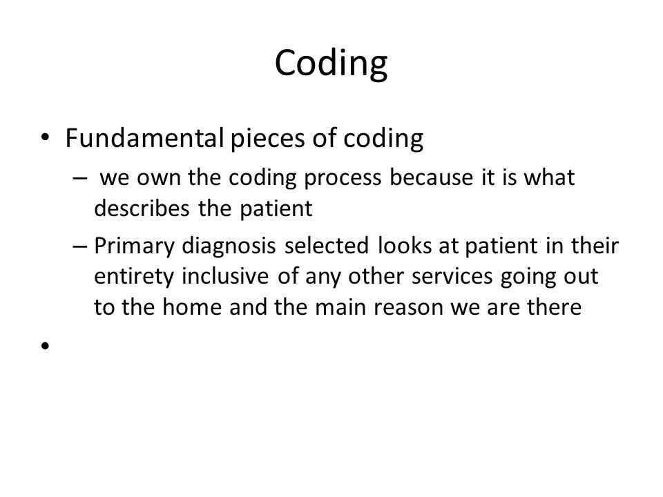 Coding Fundamental pieces of coding