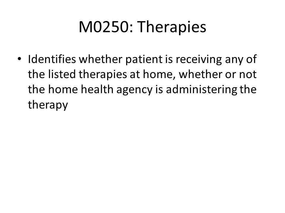 M0250: Therapies