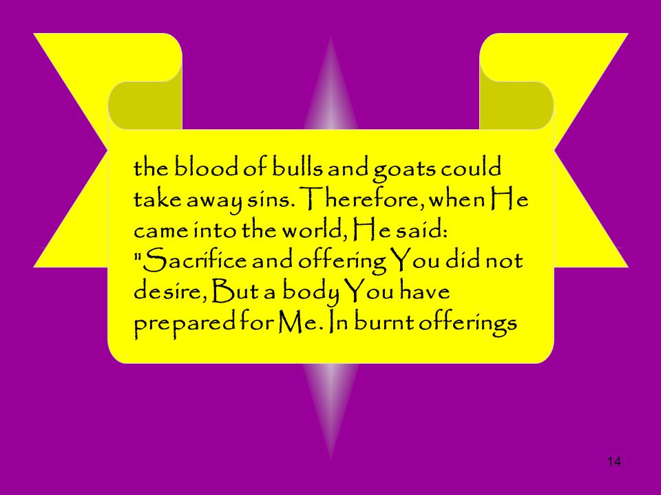the blood of bulls and goats could take away sins
