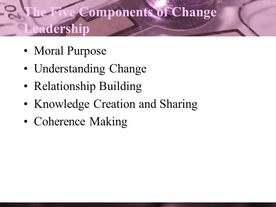 The Five Components of Change Leadership