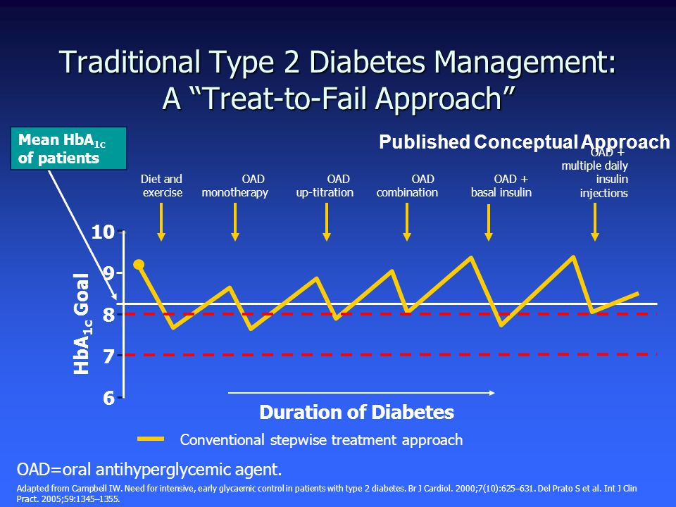 Traditional Type 2 Diabetes Management: A Treat-to-Fail Approach