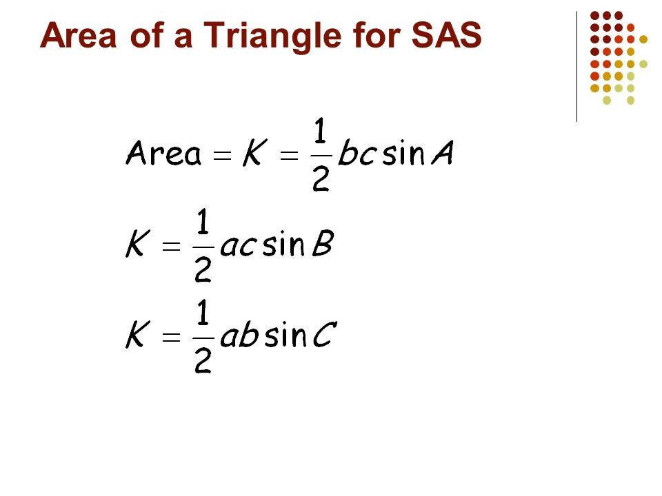 Area of a Triangle for SAS