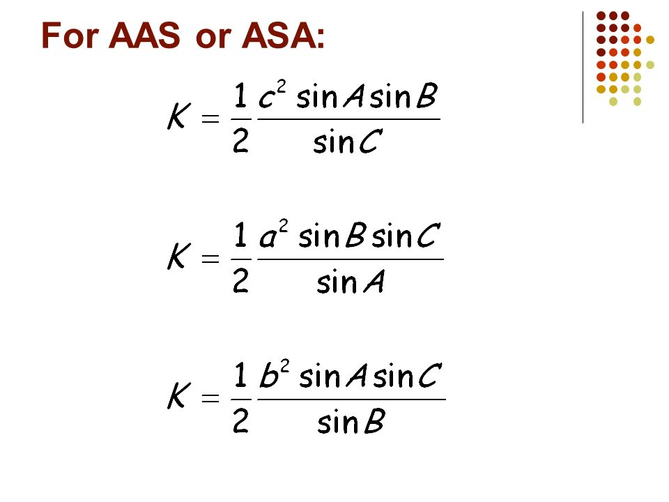 For AAS or ASA: