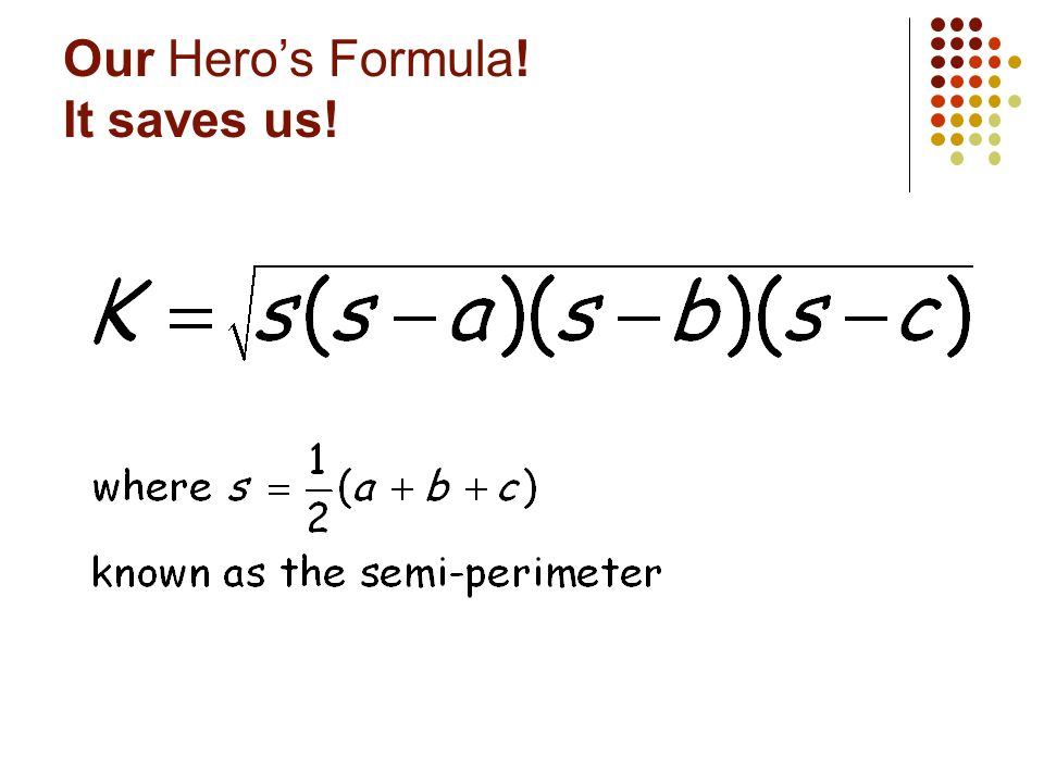 Our Hero's Formula! It saves us!