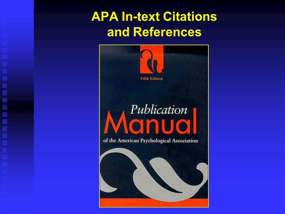 APA In-text Citations and References