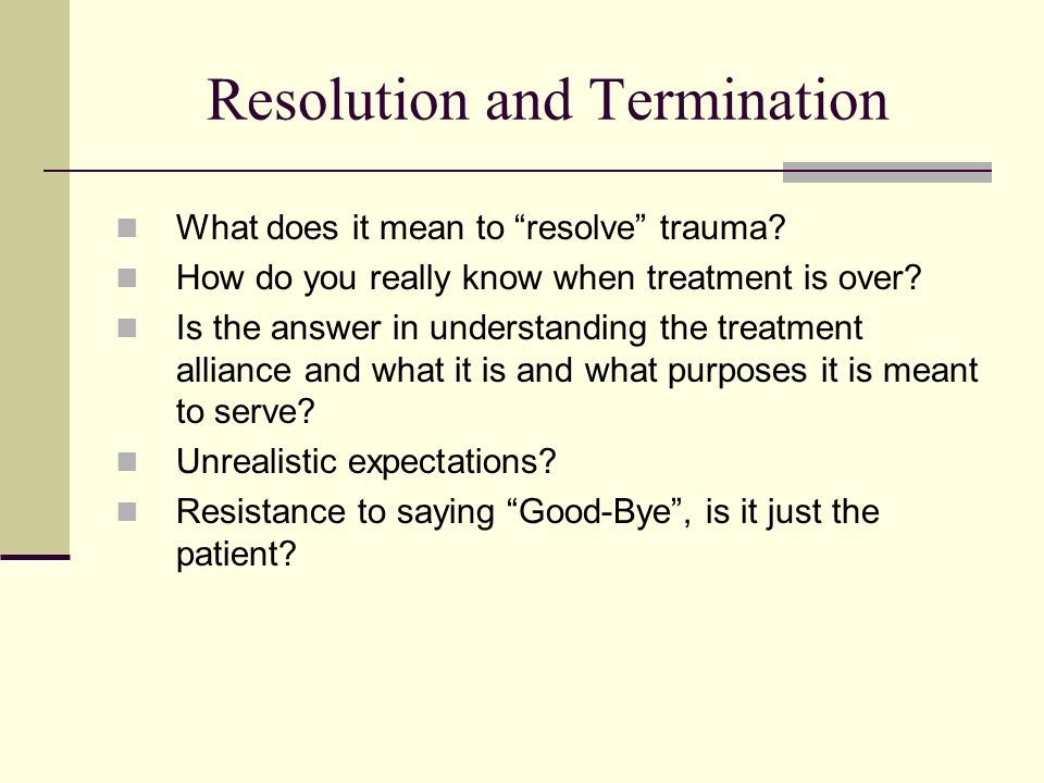 Resolution and Termination
