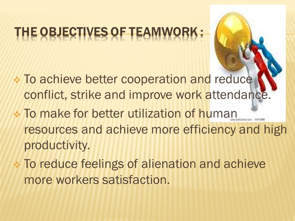 The Objectives Of Teamwork :