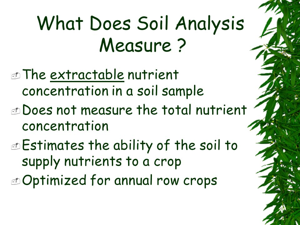 What Does Soil Analysis Measure