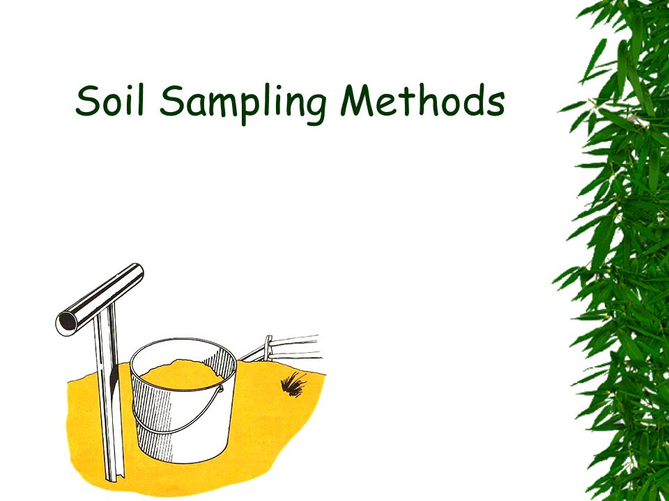 Soil Sampling Methods